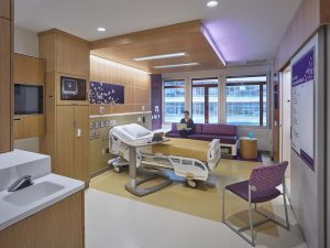 Ligature resistant sensor faucet in patient's room