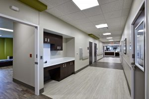 Behavioral Healthcare Hallway in Hospital