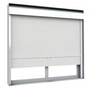 WebbLok Suicide Resistant Solar Screen Shade on a window