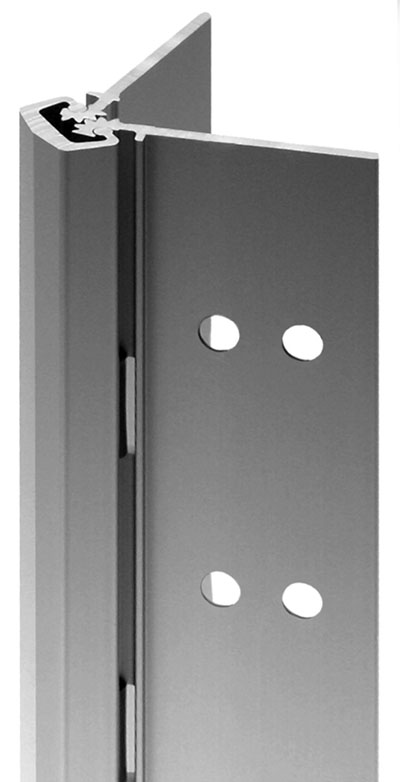 Ligature resistant concealed geared continuous hinge