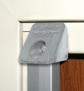 Ligature resistant concealed geared continuous hinge with TIPIT security screw