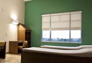 Behavioral Safety Window Shade in cream