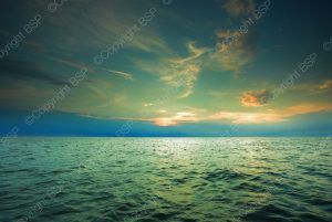 image of ocean with sunset