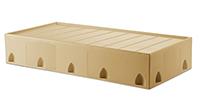 ligature resistant tan floor mount bed
