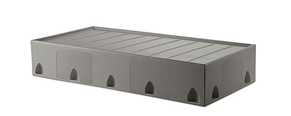 Suicide resistant attenda floor mount bed in Graphite color option