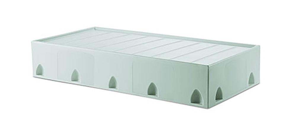 Suicide resistant attenda floor mount bed in Sea Spray color option
