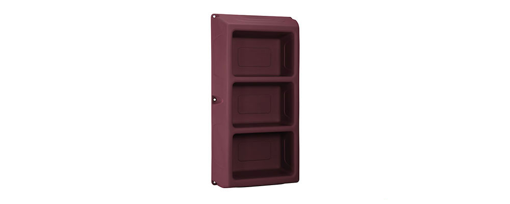 Suicide resistant attenda 3 shelf storage unit in Wild Berry color option