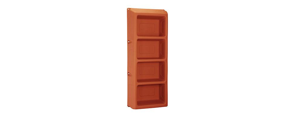 Suicide Resistant Attenda 4 Shelf Storage Unit in Canyon color option