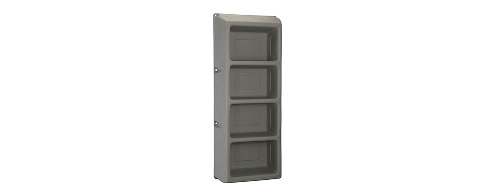 Suicide Resistant Attenda 4 Shelf Storage Unit in Graphite color option