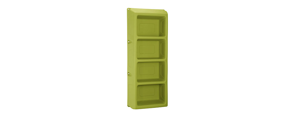 Suicide Resistant Attenda 4 Shelf Storage Unit in Meadow color option