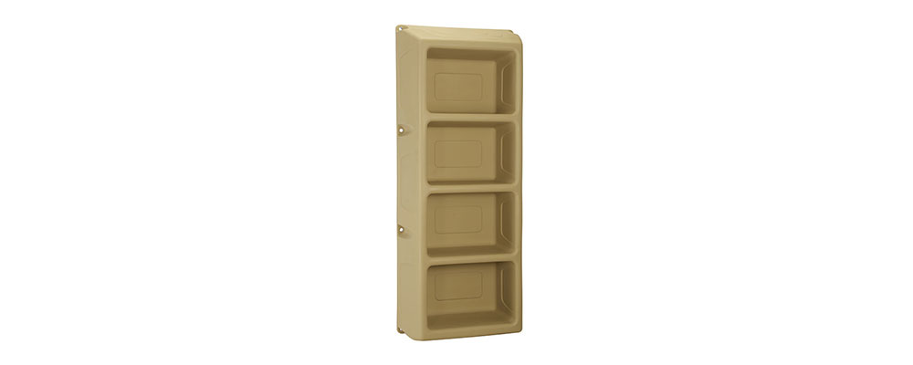 Suicide Resistant Attenda 4 Shelf Storage Unit in Mojave color option