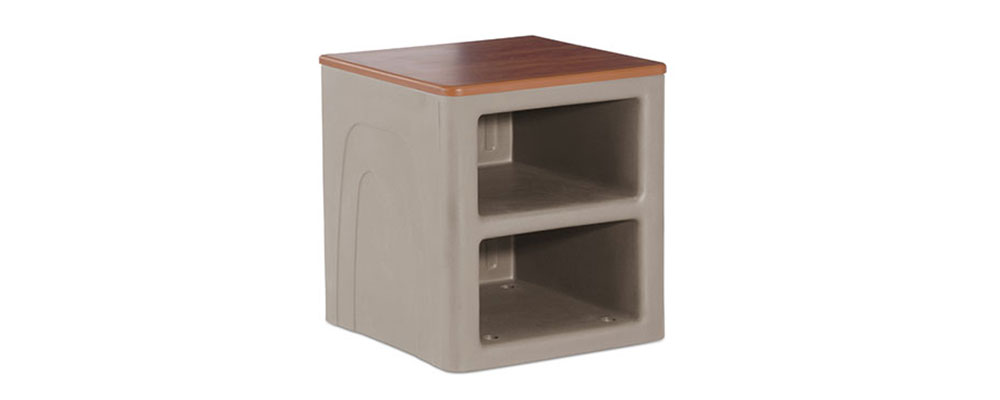 River Rock Suicide Resistant Attenda Night Stand