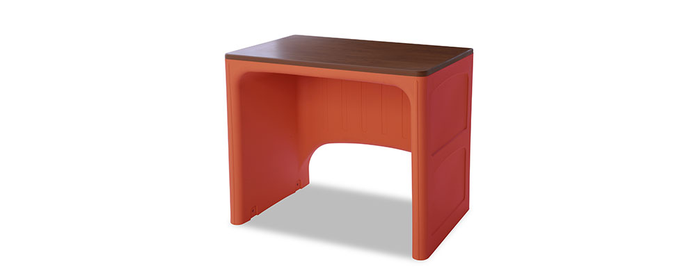 Suicide resistant attenda desk in Canyon color option