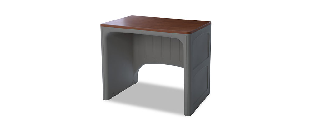 Suicide resistant attenda desk in Graphite color option