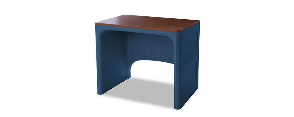 Suicide resistant attenda desk in Lagoon color option