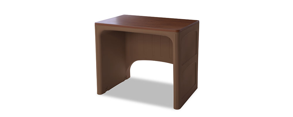 Suicide resistant attenda desk in Pine Cone color option