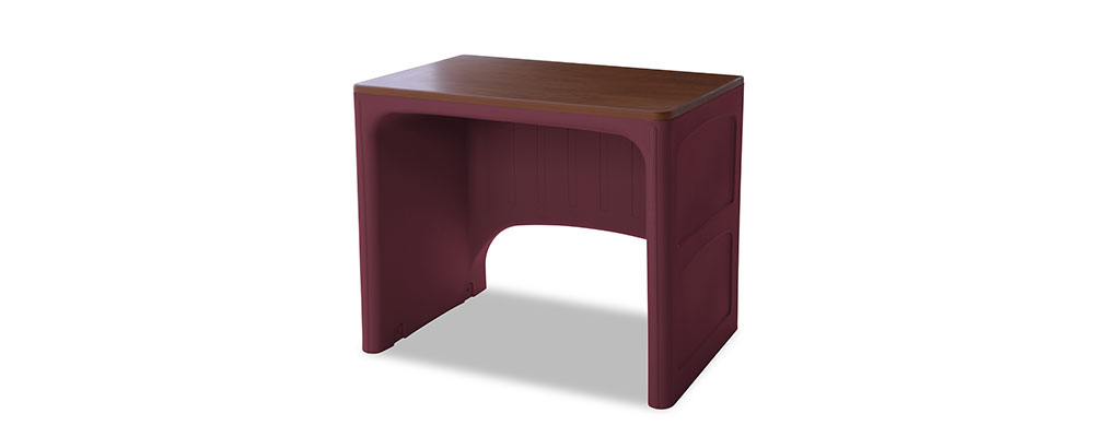Suicide resistant attenda desk in Wild Berry color option