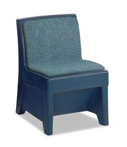 waterfall blue color ligature resistant chair