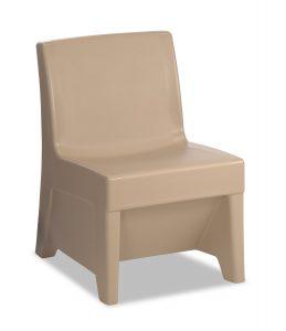 River Rock color ligature resistant chair