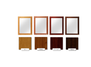 Ligature Resistant Wood Framed Stainless Steel Mirror