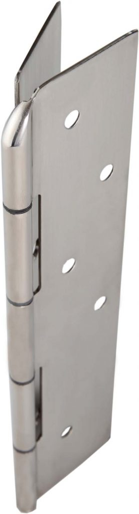 Continuous stainless steel concealed hinge with ligature resistant hospital tip