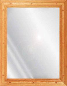 Ligature resistant wood framed stainless steel mirror in birch