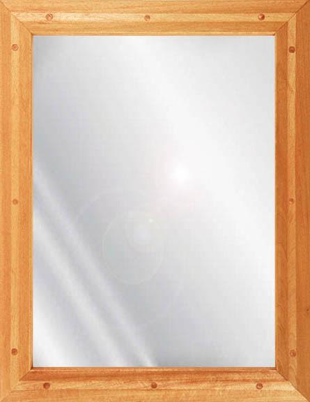 Ligature Resistant Wood Framed Stainless Steel Mirror - Birch