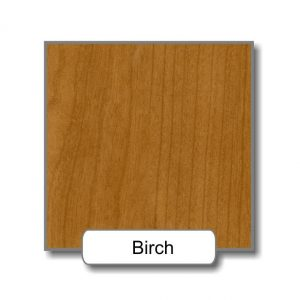 Birch option for the ligature resistant wood framed stainless steel mirror