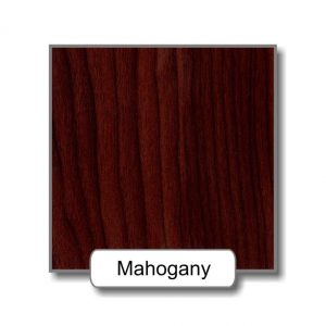 Mahogany option for the ligature resistant wood framed stainless steel mirror