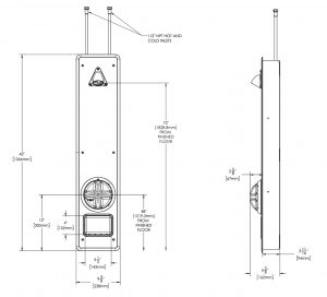 Ligature Resistant Shower Panel Blueprint Layout