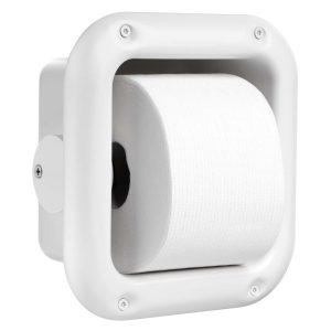 Ligature Resistant Toilet Paper Holder side with toilet paper