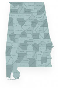 Alabama state with counties