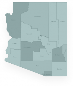 Arizona state with counties