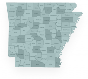 Arkansas state with counties