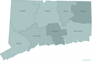 Connecticut state with counties