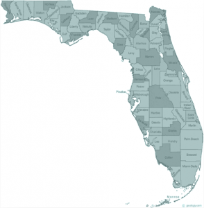 Florida state with counties
