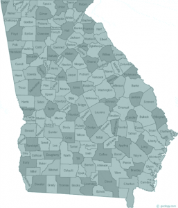Georgia state with counties