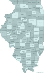Illinois state with counties