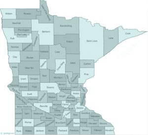 Minnesota state with counties