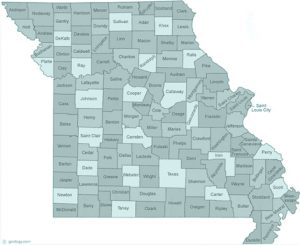 Missouri state with counties