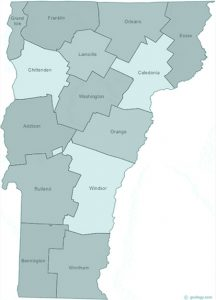 Vermont state with counties