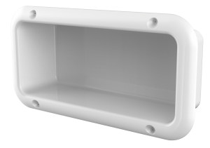 Suicide resistant recessed shelf