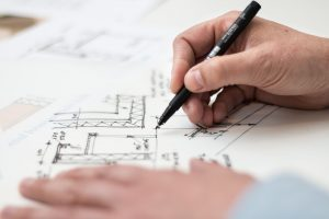 Behavioral Safety Products design process and blueprint sketching