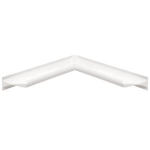 Two ligature resistant grab bars attached by the ends in a corner position