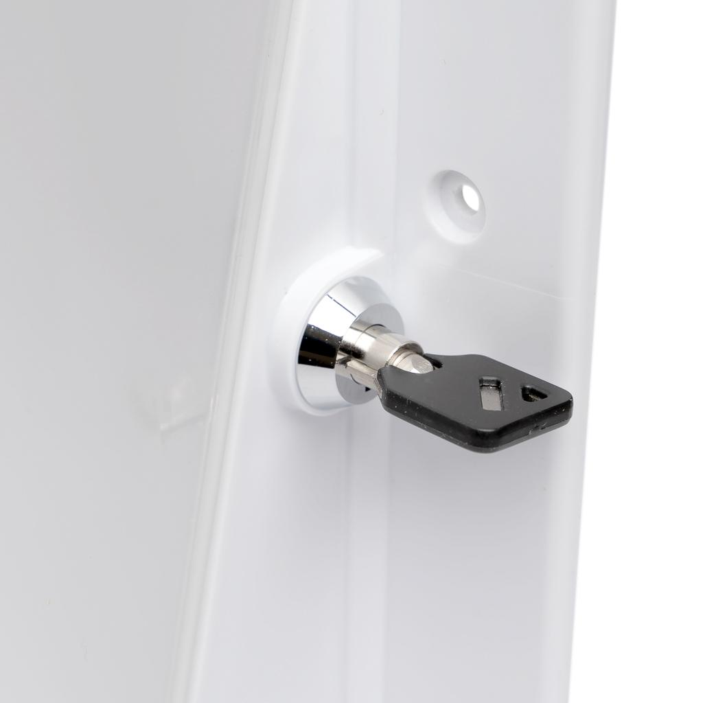 Ligature Resistant Paper Towel Dispenser Key and Lock System