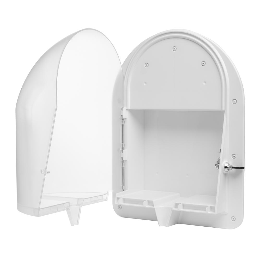 Ligature Resistant Paper Towel Dispenser - Opened for Refills