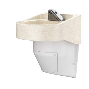Ligature Resistant Sink - Side Angle Color from top