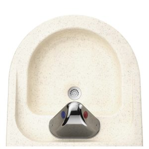 Ligature Resistant Sink - From behind and on top view