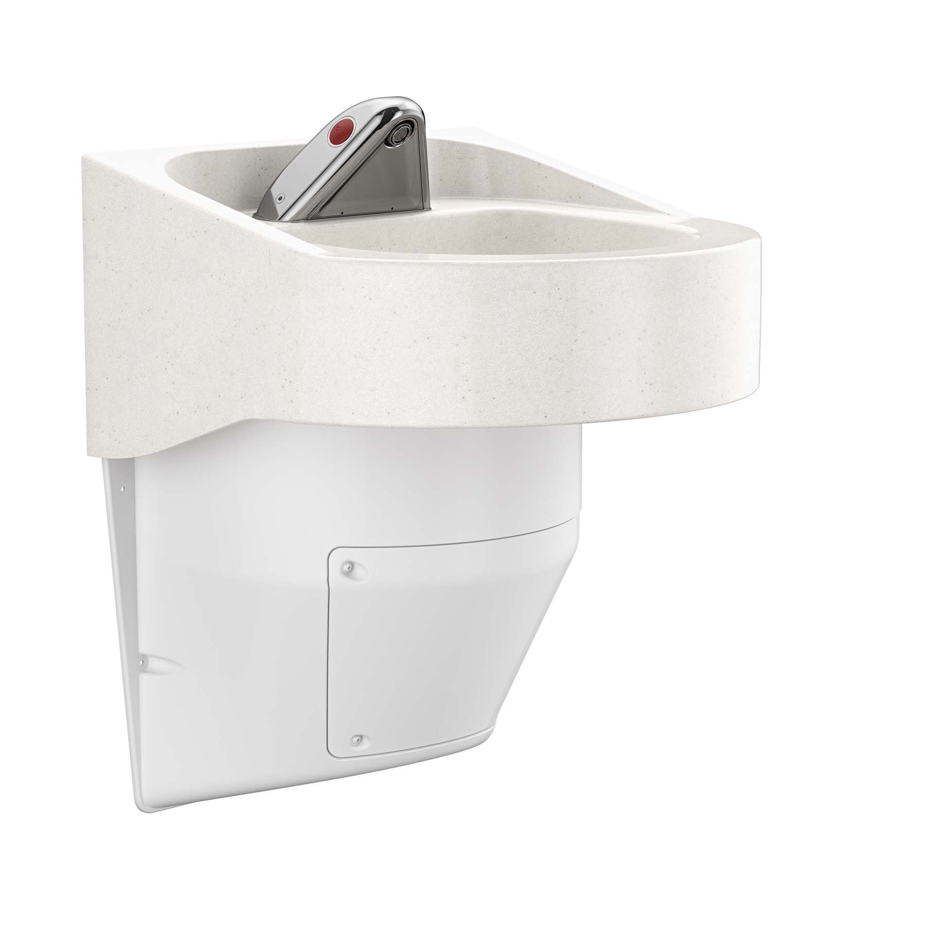 Ligature Resistant Sink and Trap Cover - Angled View