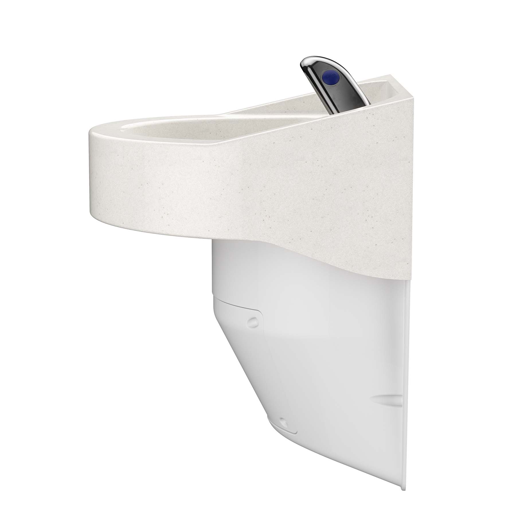 Ligature Resistant Sink and Trap Cover - Close Side View